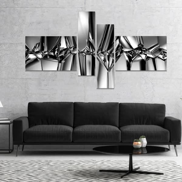 Shop Designart Black White Crystal Background Abstract