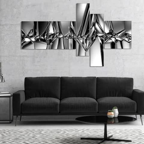 Designart 'Black White Crystal Background' Abstract Canvas Art Print