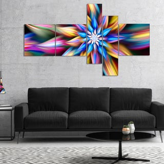 Designart 'Exotic Multi Color Flower Petals' Floral Canvas Art Print