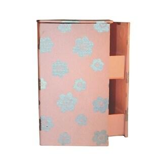 Handmade Swivel Jewelry Box - Cherry Blossom Design (India)