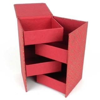 Handmade Swivel Jewelry Box - Bloom Design (India)