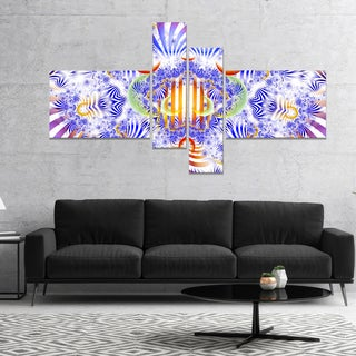 Designart 'Magical Fairy Pattern Blue' Abstract Art on Canvas