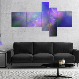 Designart 'Perfect Purple Starry Sky' Abstract Canvas Wall Art