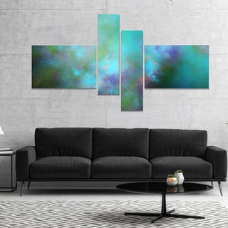 Designart 'Perfect Blue Starry Sky' Abstract Canvas Wall Art