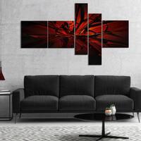 Designart 'Beautiful Red 3D Crystal Design' Abstract Canvas Art Print