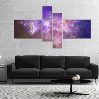 Designart 'Blur Fractal Sky with Stars' Abstract Canvas Art Print