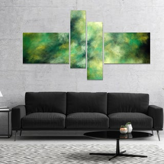 Designart 'Perfect Green Starry Sky' Abstract Canvas Wall Art