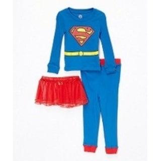 SUPERGIRL 3pc tight fit with tutu pajama set