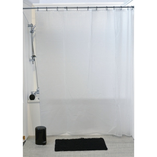 Evideco Bathroom Shower Curtain Laser Eva 3D Effect