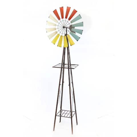 Alpine Corporation Metal Windmill Garden Stand