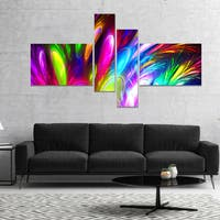 Designart 'Mysterious Psychedelic Design' Abstract Canvas Art Print