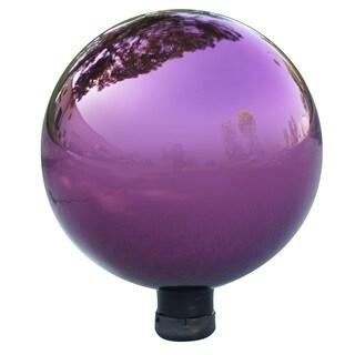 Alpine Corporation Electric Purple Glass Gazing Globe