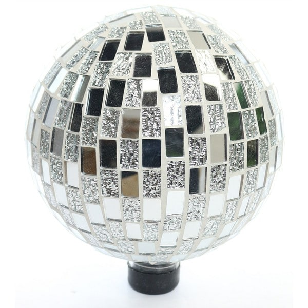 Shop Alpine Corporation Mosaic Silver Gazing Ball Free