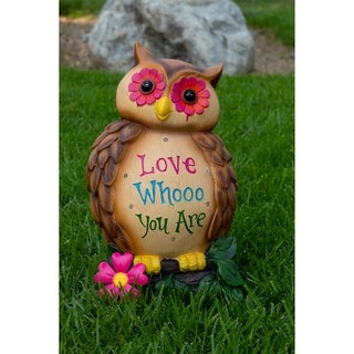 Alpine Corporation 'Love Whooo You Are' Multicolor Polyresin 18-inch Owl Statuary