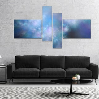 Designart 'Perfect Light Blue Starry Sky' Abstract Canvas Art Print