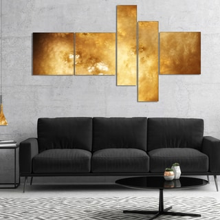 Designart 'Perfect Brown Starry Sky' Abstract Canvas Art Print