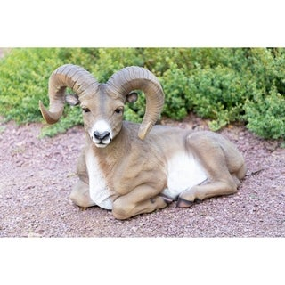Alpine Corporation Big Horn Sheep Resin Garden Statue
