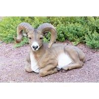 Alpine Corporation Big Horn Sheep Resin Garden Statue