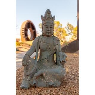Alpine Corporation Resin Ancient Buddha Garden Statue