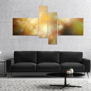 Designart 'Perfect Yellow Green Starry Sky' Abstract Canvas Art Print