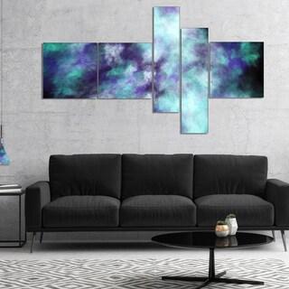 Designart 'Perfect Flowery Starry Sky' Abstract Canvas Art Print