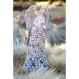 Alpine 18-inch Angel Garden Statue Holding Heart