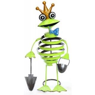 Alpine Corporation Swirl Frog Multicolor Metal Garden Statue