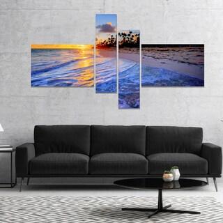 Designart 'Blue Waves Along the Shore' Seashore Canvas Art Print (2 options available)
