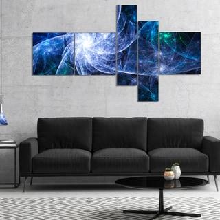 Designart 'Blue Fractal Star Pattern' Abstract Canvas Art Print