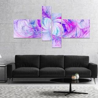Designart 'Light Purple Fractal Texture' Abstract Canvas Art Print