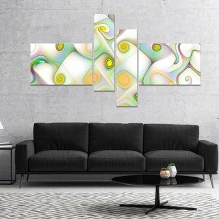 Designart 'Beautiful Fractal Pattern with Swirls' Abstract Wall Art Canvas