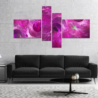 Designart 'Dark Pink Fractal Glass Texture' Abstract Canvas Art Print