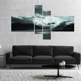 Designart 'Stormy Iceland in the Summer' Seashore Canvas Art Print