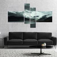 Designart 'Stormy Iceland in the Summer' Seashore Canvas Art Print