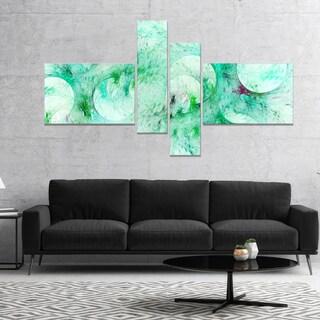 Designart 'Green Circles Fractal Texture' Abstract Canvas Art Print