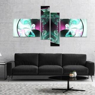 Designart 'Grey Capsule in Plasma' Abstract Canvas Art Print