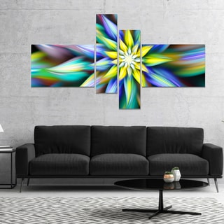 Designart 'Dancing Multi Color Flower Petals' Floral Canvas Art Print