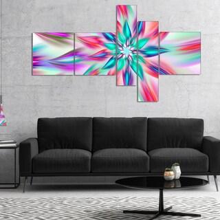 Designart 'Dancing Pink Flower Petals' Floral Canvas Art Print