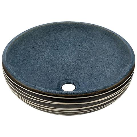 V402 Hand-Thrown Ceramic Vessel Sink Antique Bronze Ensemble