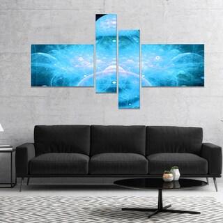 Designart 'Infinite Light Blue Universe' Floral Canvas Art Print