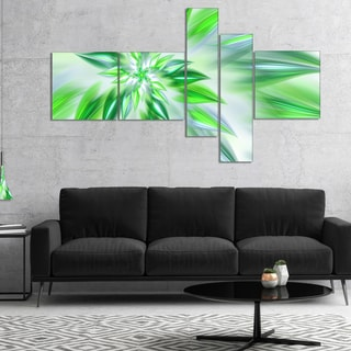 Designart 'Exotic Dance of Green Petals' Floral Canvas Art Print