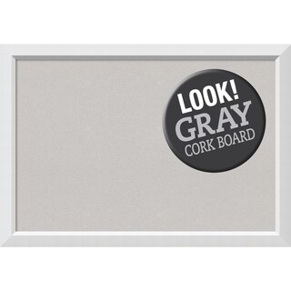 Framed Grey Cork Board, Blanco White
