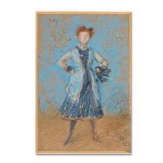Whistler 'The Blue Girl' Canvas Art
