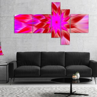 Designart 'Beautiful Pink Flower Petals' Floral Canvas Art Print