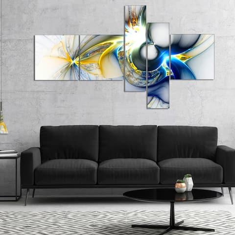 Designart 'Shining Multi Colored Plasma' Abstract Wall Art Canvas