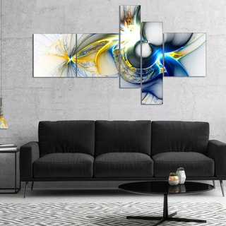Designart 'Shining Multi Colored Plasma' Abstract Wall Art Canvas