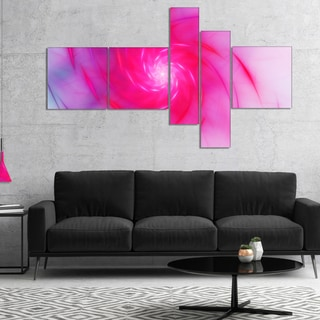 Designart 'Beautiful Fractal Pink Whirlpool' Floral Canvas Art Print