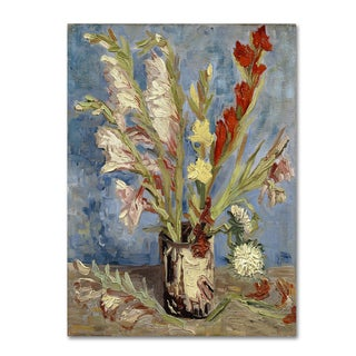 Van Gogh 'Vase With Gladioli And China Asters' Canvas Art