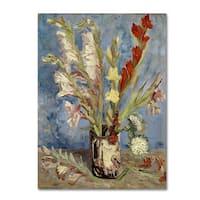 Van Gogh 'Vase With Gladioli And China Asters' Canvas Art