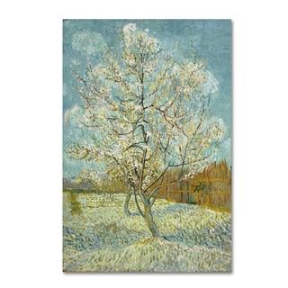 Van Gogh 'The Pink Peach Tree' Canvas Art